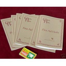 First Aid Herbs Booklet. Gift/ Information/ Interest