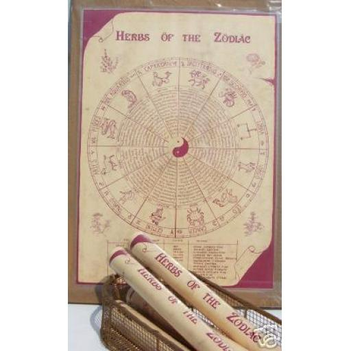 Poster/Chart 'Herbs of the Zodiac' Gift or Information